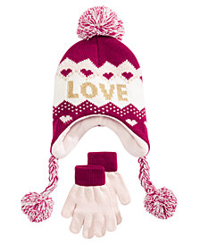 Berkshire Little & Big Girls 2-Pc. Heidi Hat & Gloves Set