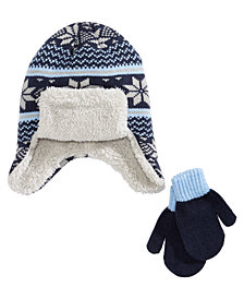 Berkshire Little & Big Boys 2-Pc. Hat & Mittens Set