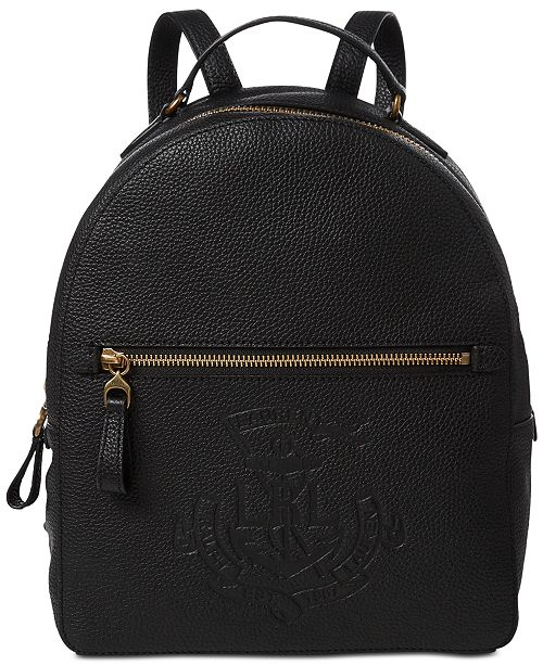 896e65b43ce6 Lauren Ralph Lauren Huntley Leather Backpack - Handbags ...