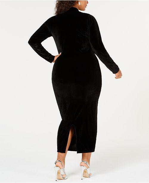 Rebdolls Plus Size Turtleneck Velvet Dress from The Workshop at ...
