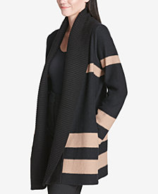 Calvin Klein Colorblocked Rib-Trim Cardigan