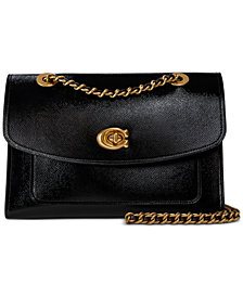COACH Patent Leather Parker Shoulder Bag