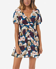 O'Neill Juniors' Shayna Crinkled Printed Dress