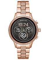 Michael Kors Access Unisex Runway Rose Gold-Tone Stainless Steel Bracelet  Touchscreen Smart Watch 41mm dccb54527e