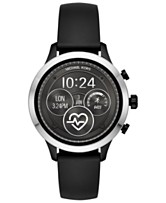 e7517b13b6f4 Michael Kors Access Unisex Runway Black Silicone Strap Touchscreen Smart  Watch 41mm