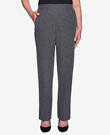 Alfred Dunner Petite Finishing Touch Marled Relaxed-Fit Pants