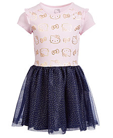 Hello Kitty Toddler Girls Glitter-Mesh Dress