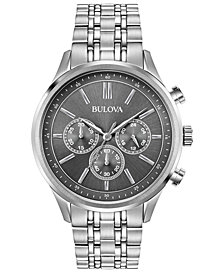 Bulova Men's Stainless Steel Bracelet Watch 42mm, Created for Macy's