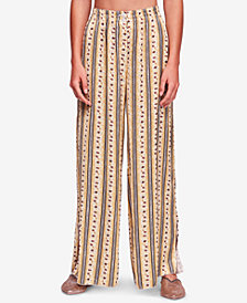 Free People Take Your Tie Off Printed Wide-Leg Pants