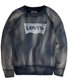 Levi's® Big Boys Indigo Batwing Pullover Sweatshirt