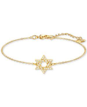 SWAROVSKI Silver-Tone Crystal Star Of David Chain Bracelet in Gold