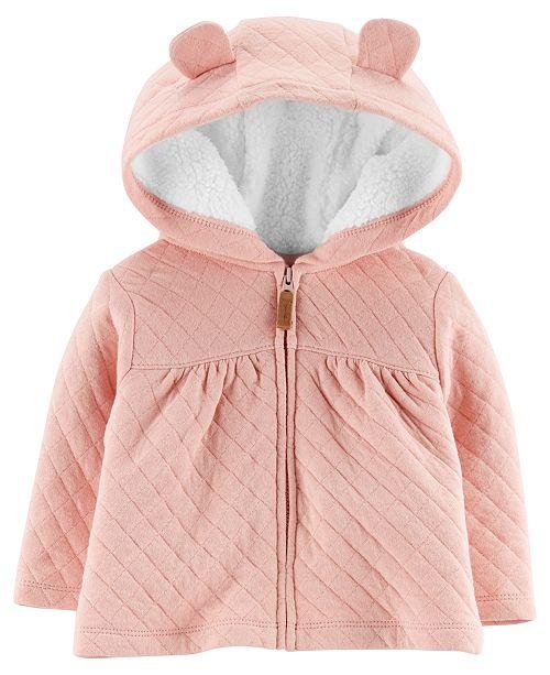 6c599fb43 Carter s Baby Girls Hooded Jacket with Fleece Lining - Coats ...