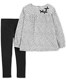 Carter's Baby Girls 2-Pc. Woven Dot-Print Tunic & Leggings Set