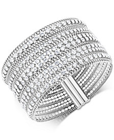 Swarovski Stainless Steel Crystal Multi-Row Magnetic Bracelet
