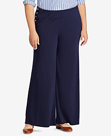 Lauren Ralph Lauren Plus Size High-Rise Pants