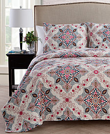VCNY Home Wilma Reversible 3-Pc. King Quilt Set