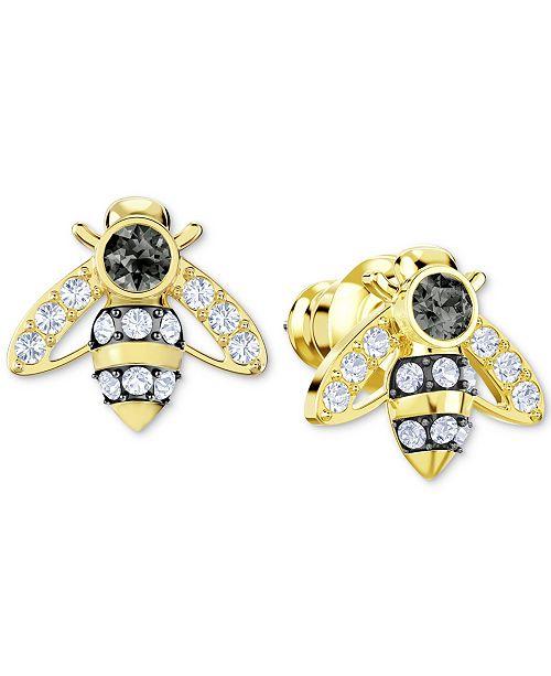 496b95dff Swarovski Gold-Tone Crystal Bee Stud Earrings & Reviews - Fashion ...