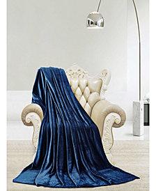 Luxury Super Soft Velvet Plush Throw Blanket (Queen)