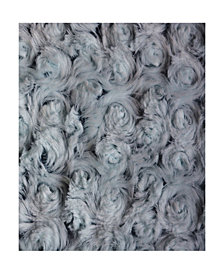 Decorative Super Soft Plush Roses Faux Fur Pillow Fuzzy Accent Pillow
