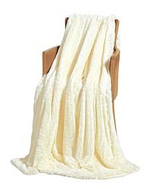 Super Soft Shaggy Chic Fuzzy Faux Fur Throw Blanket - 50 x 60
