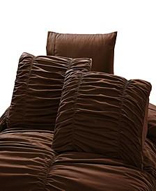 Romantic Ruched Pleat 8-Piece Luxury Unique Comforter Set  - Full Queen