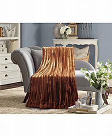 Striped Faux Fur Super Soft Blanket (Twin)