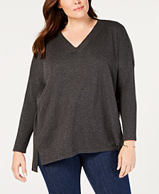 Style & Co Plus Size High-Low Hem Tunic, Created for Macy's