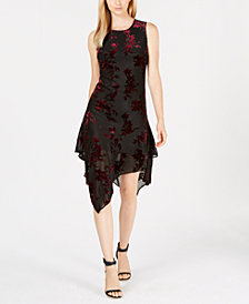 Calvin Klein Velvet Burnout Dress