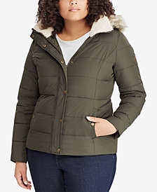 Lauren Ralph Lauren Plus Size Faux-Fur Puffer Coat