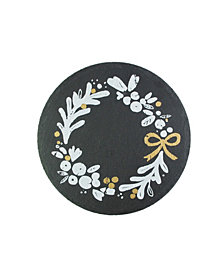 American Atelier Mistletoe Memories Round Slate Board, Created for Macy's