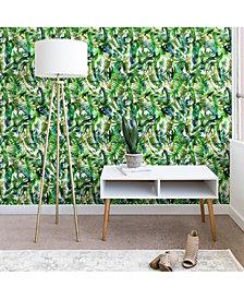 Deny Designs Schatzi Brown Vibe of the Jungle Green 2'x4' Wallpaper