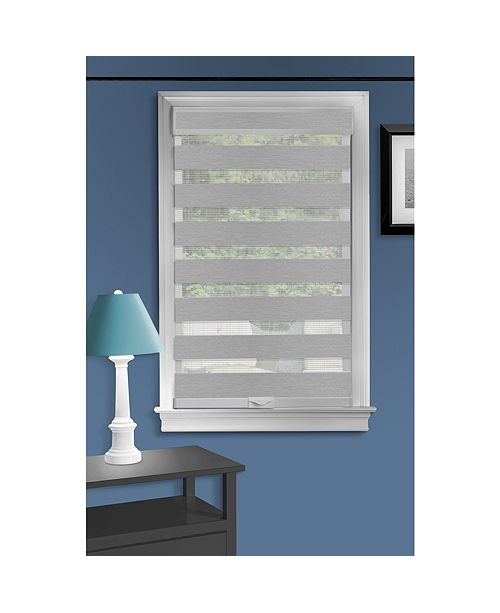 "Achim Cordless 43""x72"" Celestial Sheer Double Layered Shade"