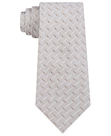 DKNY Men's Geometric Slim Silk Tie