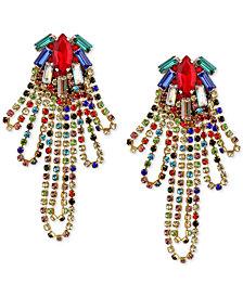 Deepa Gold-Tone Crystal Looped Chandelier Earrings