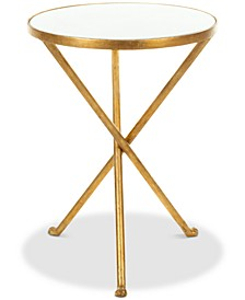 Marcie Foil Round Top Accent Table