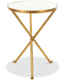 Marcie Foil Round Top Accent Table, Quick Ship