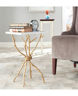 Safavieh Alexa Marble Top Accent Table Quick Ship Furniture Macy S