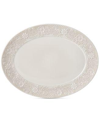 Chelse Muse Floral Oval Platter