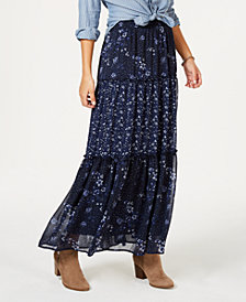 Style & Co Tiered Printed Maxi Skirt, Created for Macy's