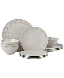 Lenox Chelse Muse Fleur 12-Pc. Dinnerware Set, Service for 4