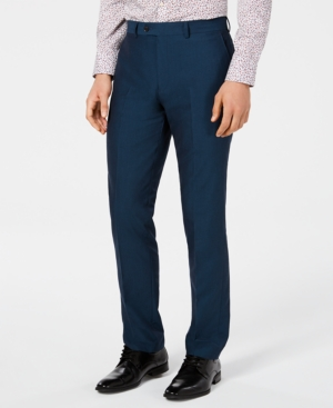 Bar Iii Men's Slim-Fit Stretch Teal Suit Pants, Created for Macy's