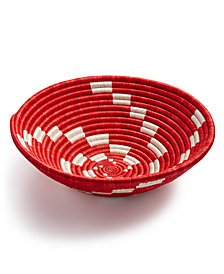 Global Goods Partners Spiral Wave Woven Decorative Bowl