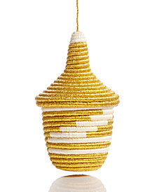 Global Goods Partners Metallic Gold Peace Basket Ornament