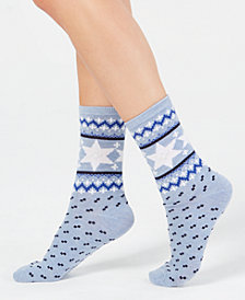 Charter Club Women's Festive Hanukkah Socks, Created for Macy's