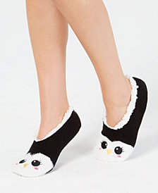 Charter Club Women's Penguin Slipper Socks, Created for Macy's