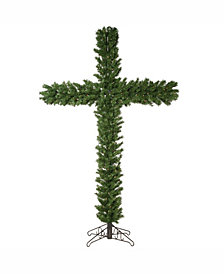 7.5' Artificial Christmas Cross with 250 Clear Dura-Lit Lights