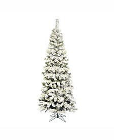 7.5' Flocked Pacific Artificial Christmas Tree Unlit
