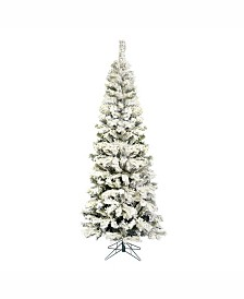 Vickerman 7.5' Flocked Pacific Artificial Christmas Tree Unlit