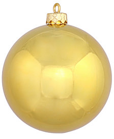 "15.75"" Gold Shiny Ball Christmas Ornament"