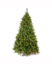 7.5' Cashmere Slim Artificial Christmas Tree with 600 Clear Lights